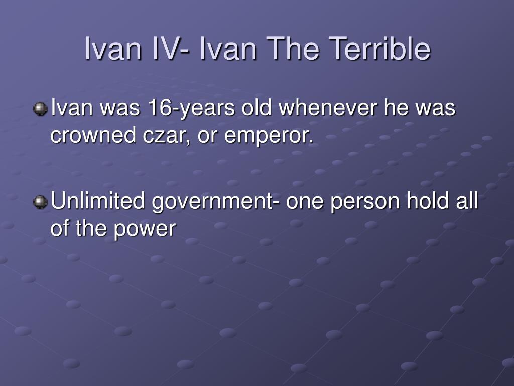 Ivan IV- Ivan The Terrible