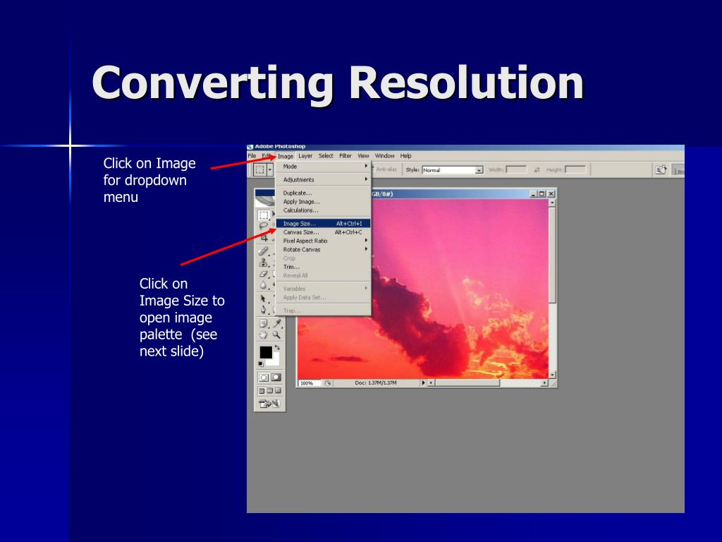 Converting Resolution