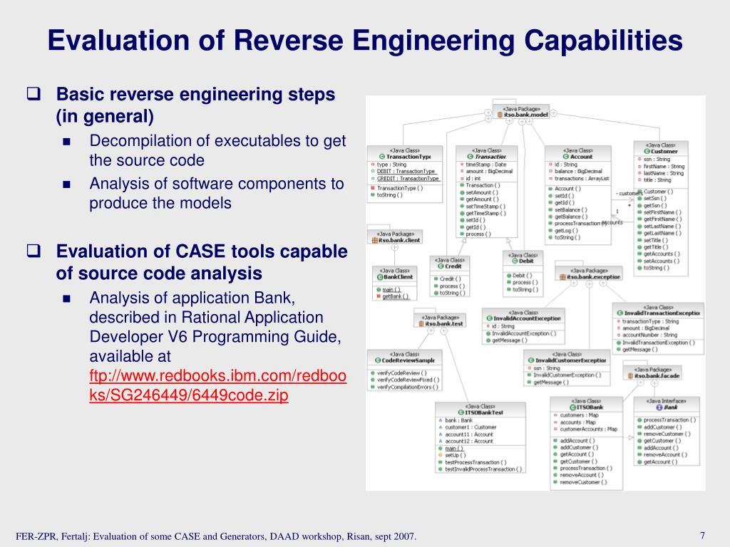 Basic reverse engineering steps (in general)