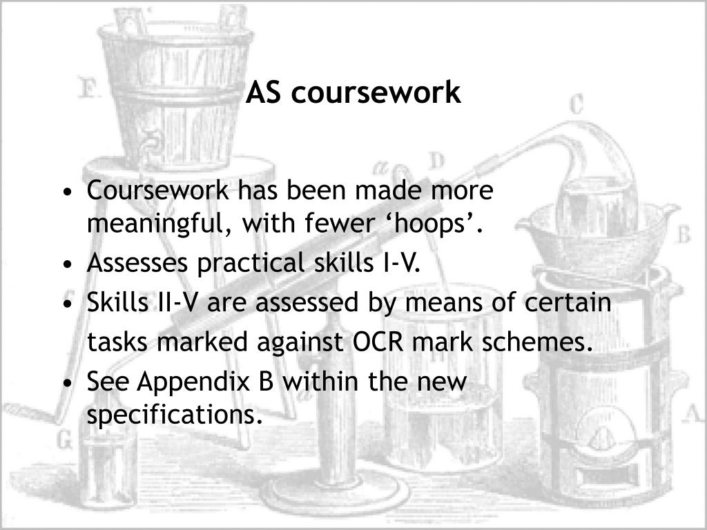 ocr salters coursework mark scheme