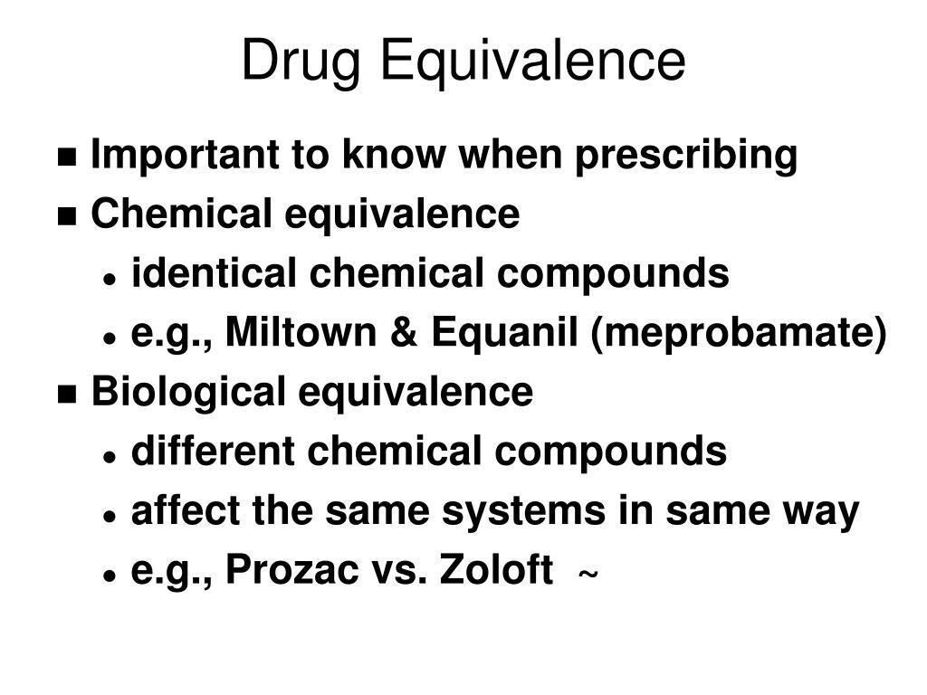 Drug Equivalence