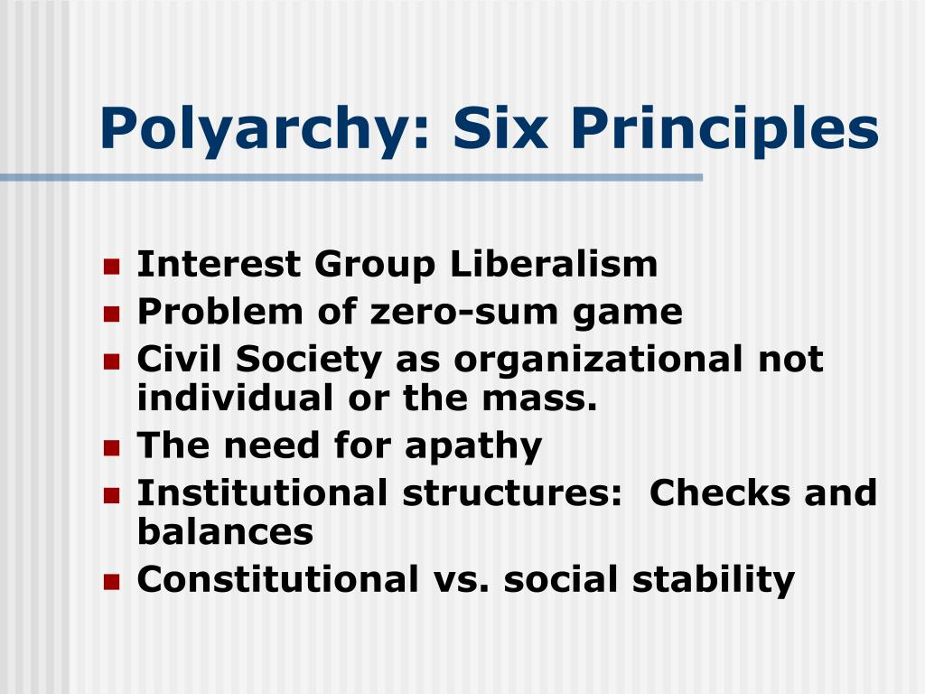 Polyarchy: Six Principles