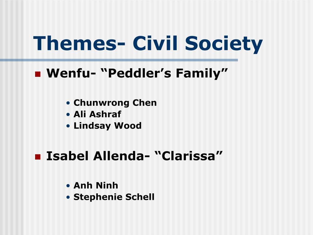 Themes- Civil Society