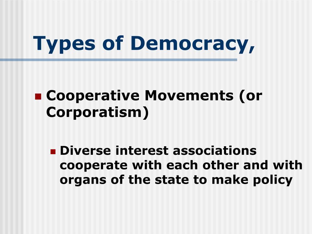 Types of Democracy,