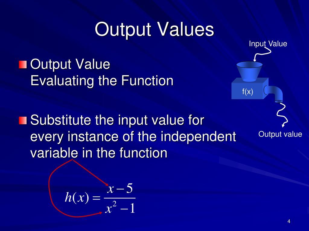 Input Value