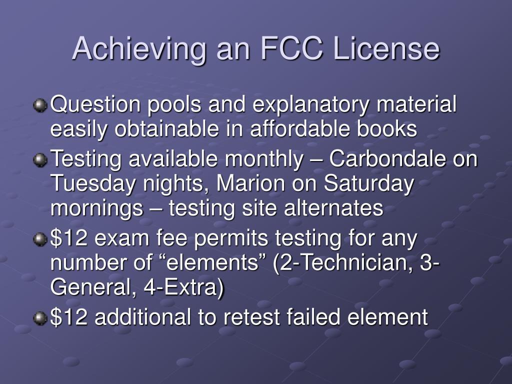 Achieving an FCC License