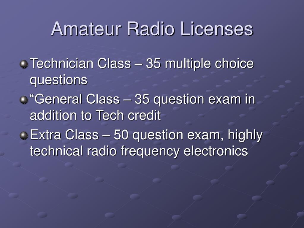 Amateur Radio Licenses