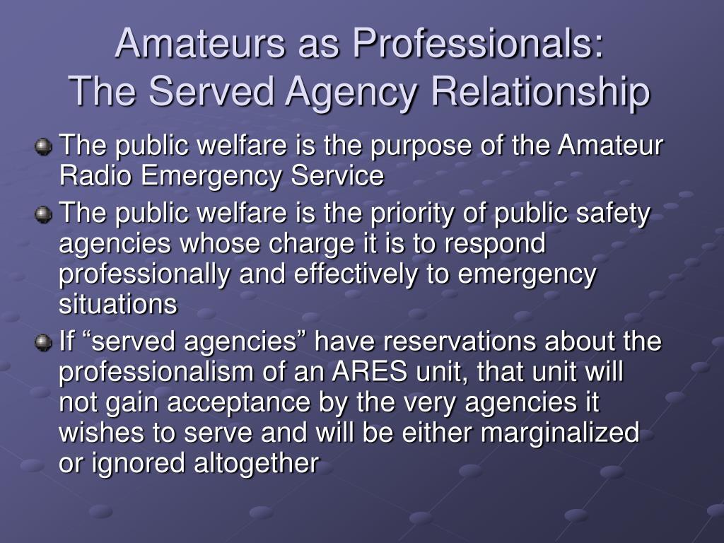 Amateurs as Professionals: