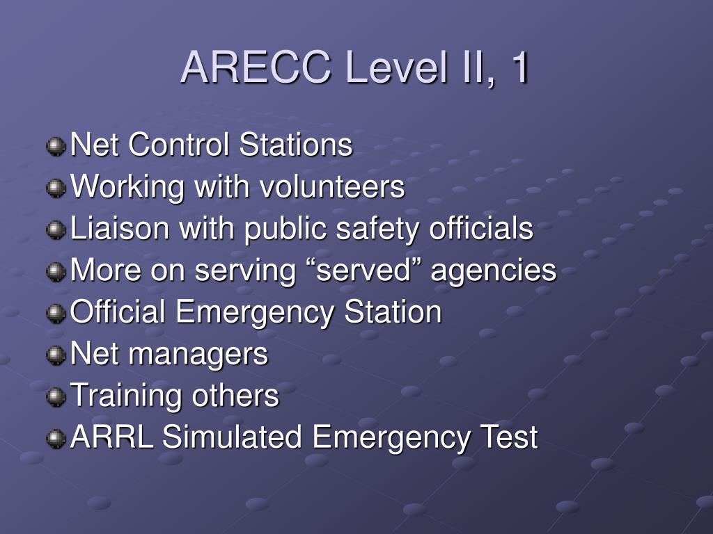 ARECC Level II, 1