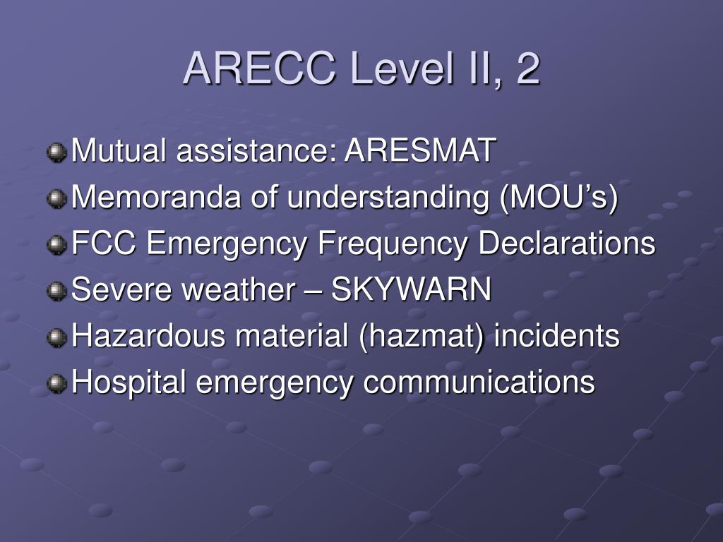 ARECC Level II, 2