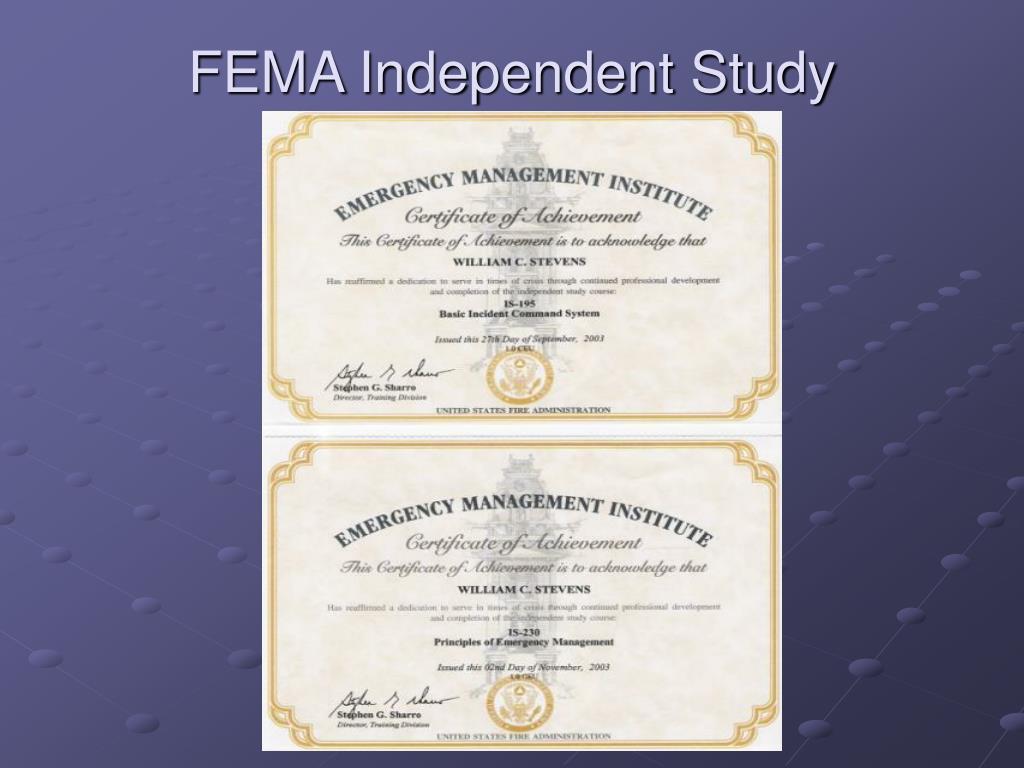 FEMA Independent Study