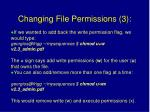 changing file permissions 3