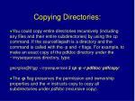 copying directories