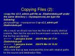 copying files 2