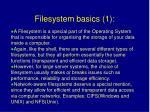 filesystem basics 1