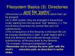 filesystem basics 3 directories and file paths