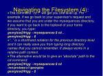 navigating the filesystem 4