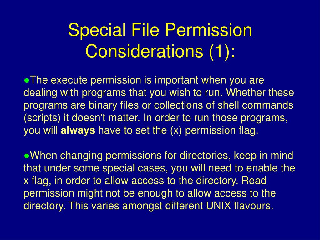 The execute permission is important when you are dealing with programs that you wish to run. Whether these programs are binary files or collections of shell commands (scripts) it doesn't matter. In order to run those programs, you will