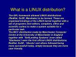what is a linux distribution