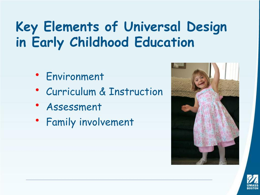 Key Elements of Universal Design in Early Childhood Education