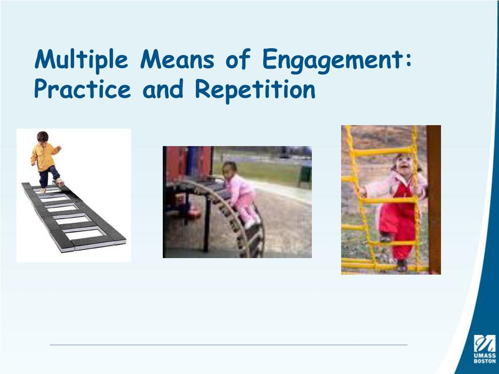 Multiple Means of Engagement: Practice and Repetition