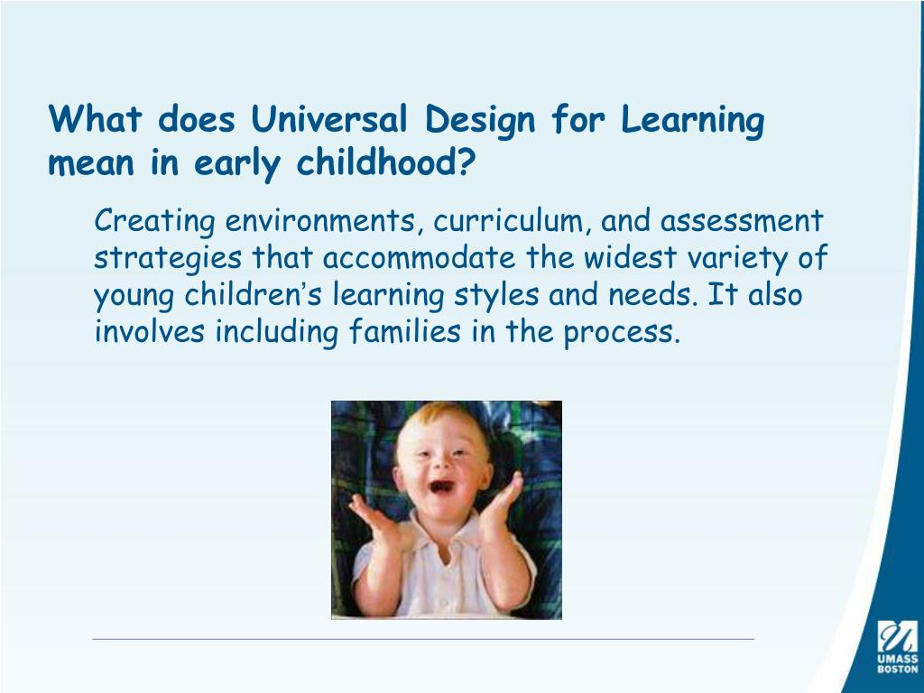 What does Universal Design for Learning