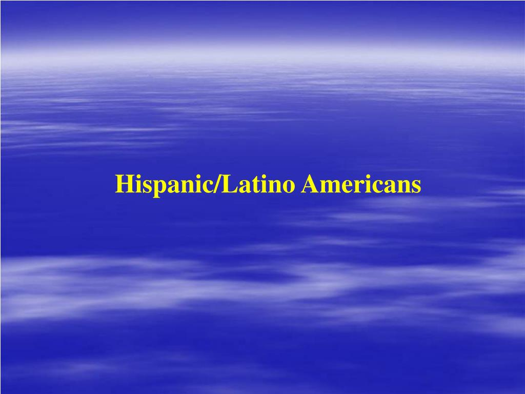 Hispanic/Latino Americans