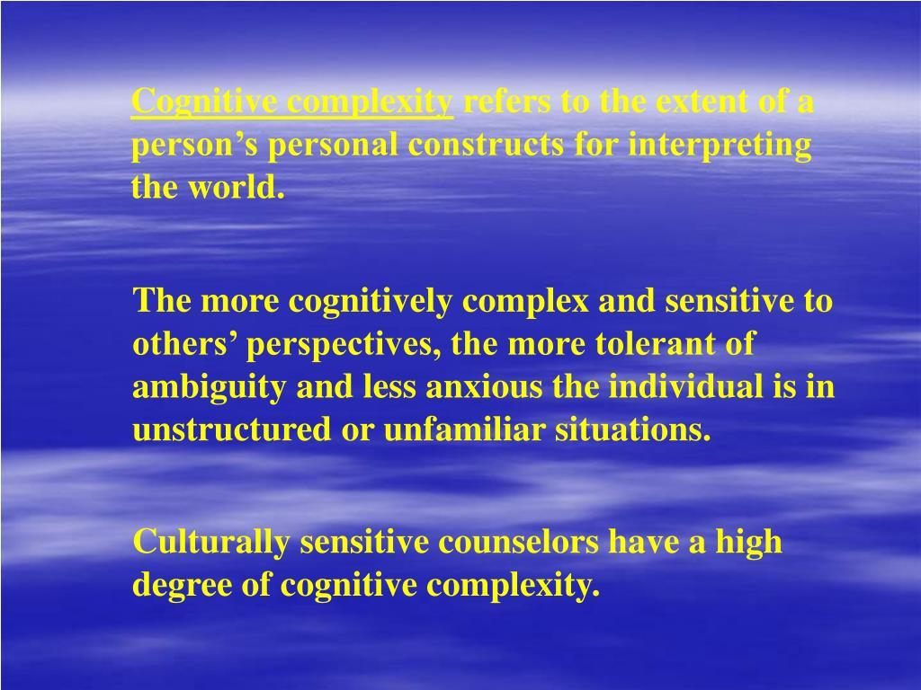 Cognitive complexity