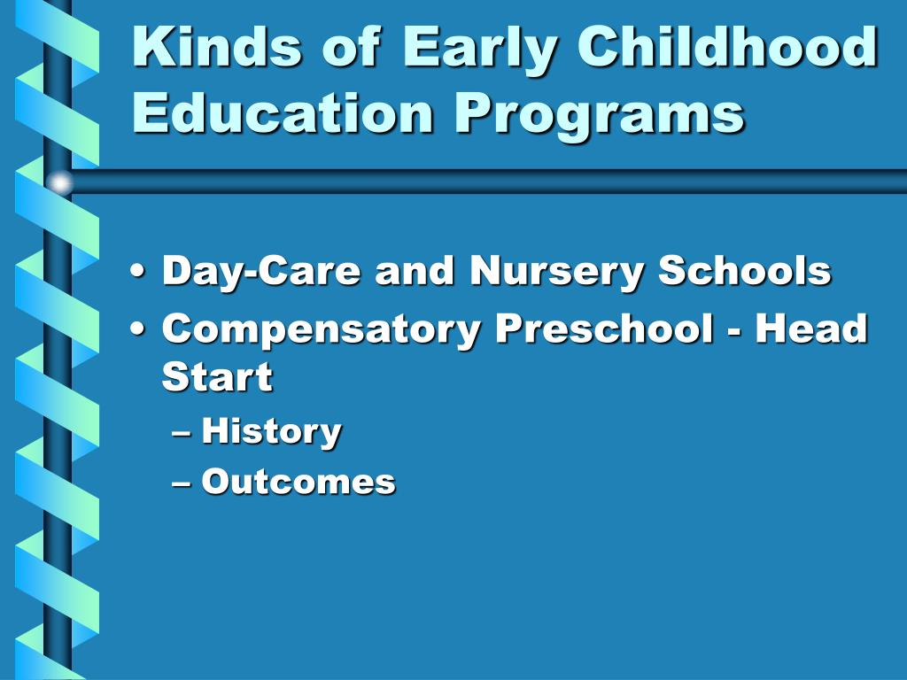 Kinds of Early Childhood Education Programs