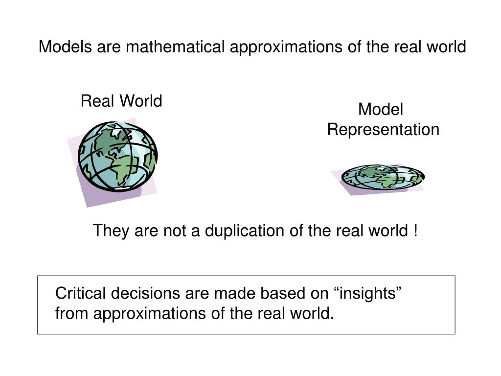 Models are mathematical approximations of the real world