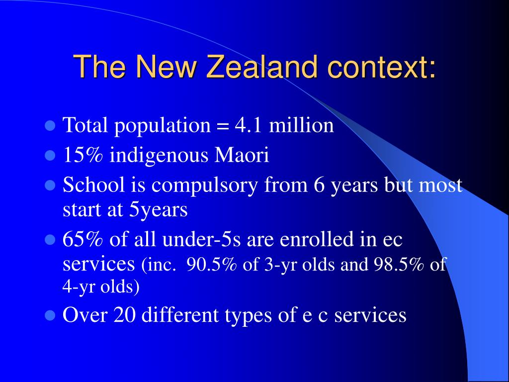The New Zealand context: