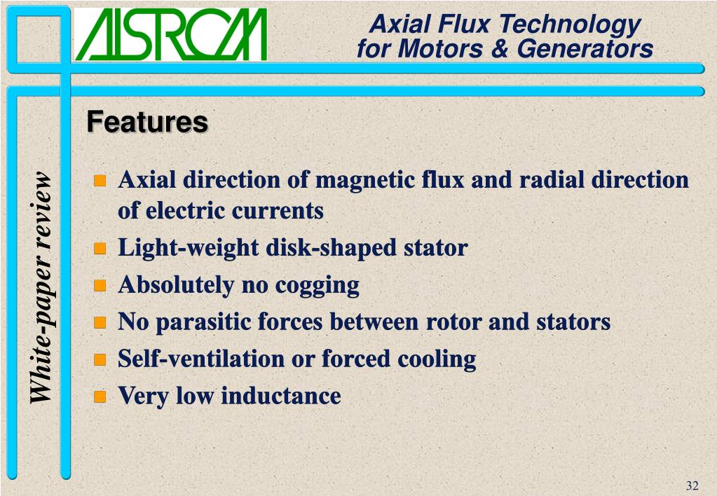 Axial direction of magnetic flux and radial direction of electric currents