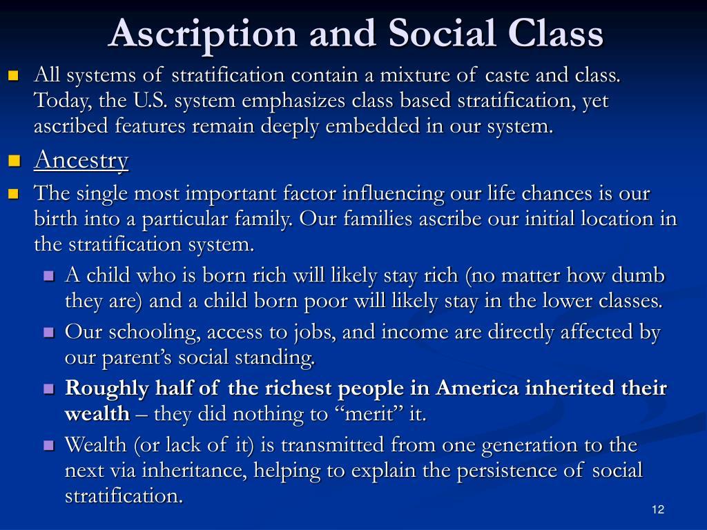 Ascription and Social Class