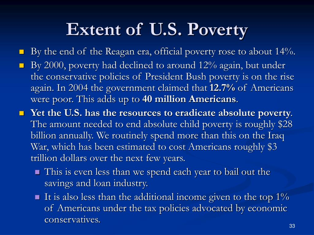 Extent of U.S. Poverty