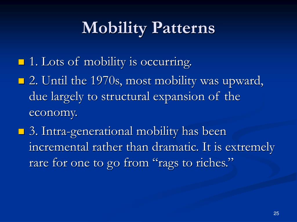 Mobility Patterns