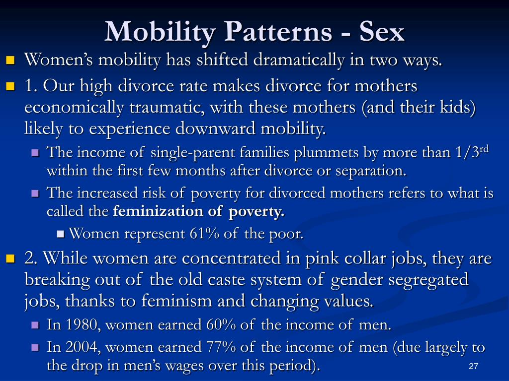 Mobility Patterns - Sex