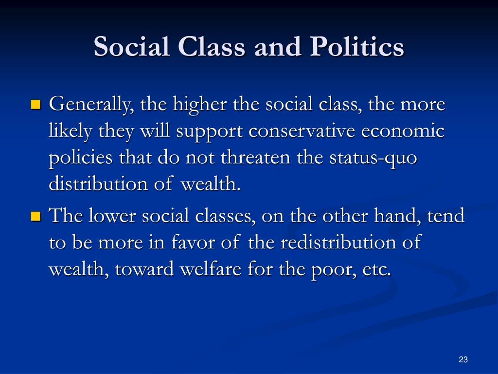 Social Class and Politics