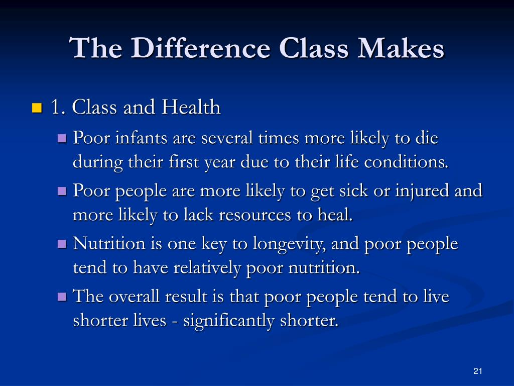 The Difference Class Makes