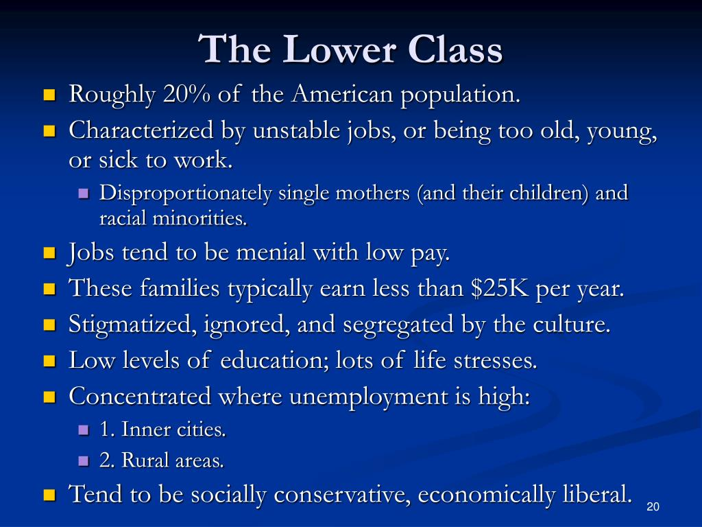 The Lower Class