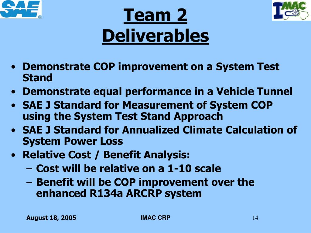 Demonstrate COP improvement on a System Test Stand