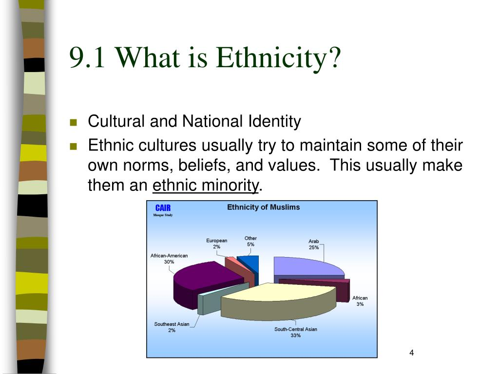 9.1 What is Ethnicity?