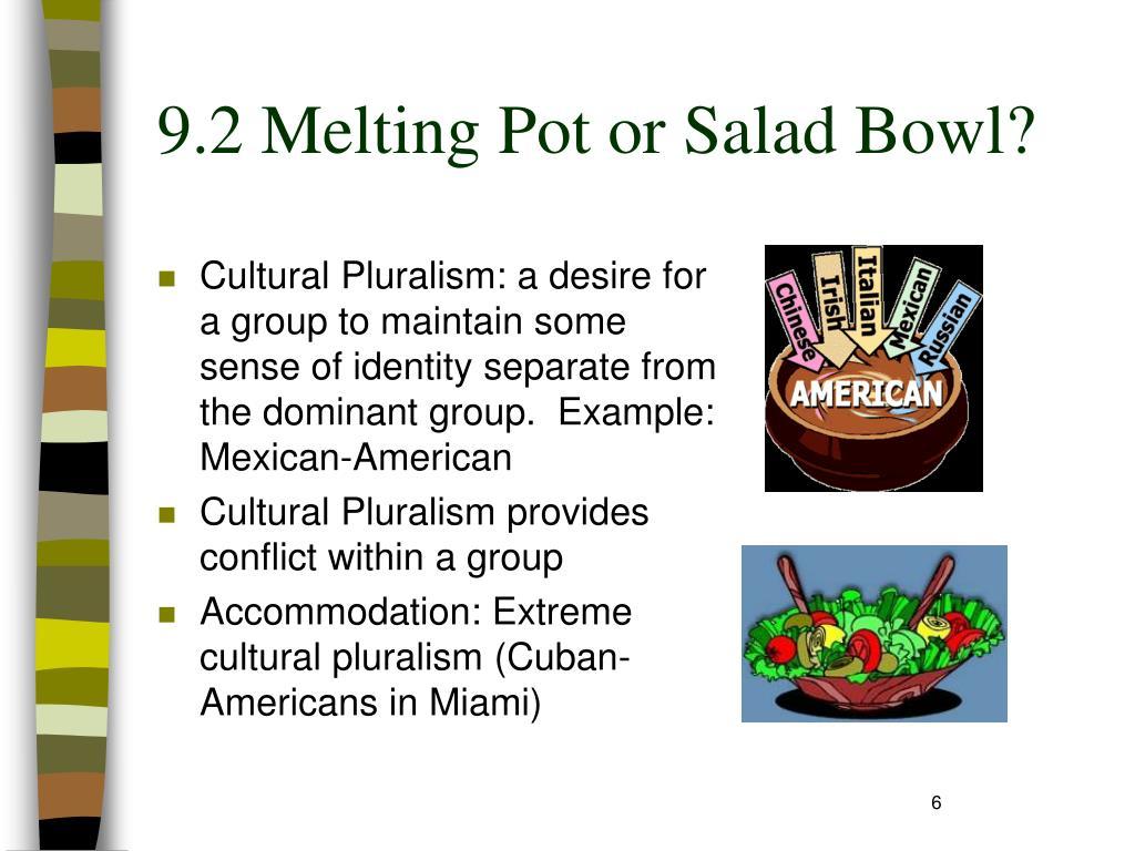9.2 Melting Pot or Salad Bowl?