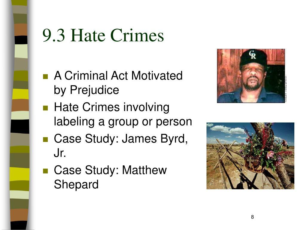 9.3 Hate Crimes