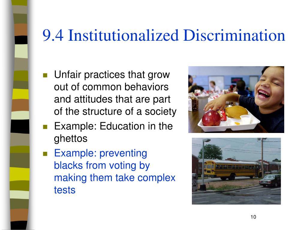 9.4 Institutionalized Discrimination