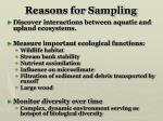reasons for sampling