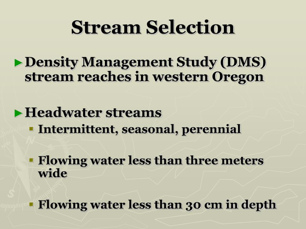 Stream Selection