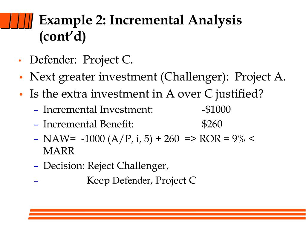 Example 2: Incremental Analysis (cont'd)