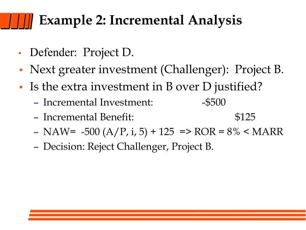 Example 2: Incremental Analysis
