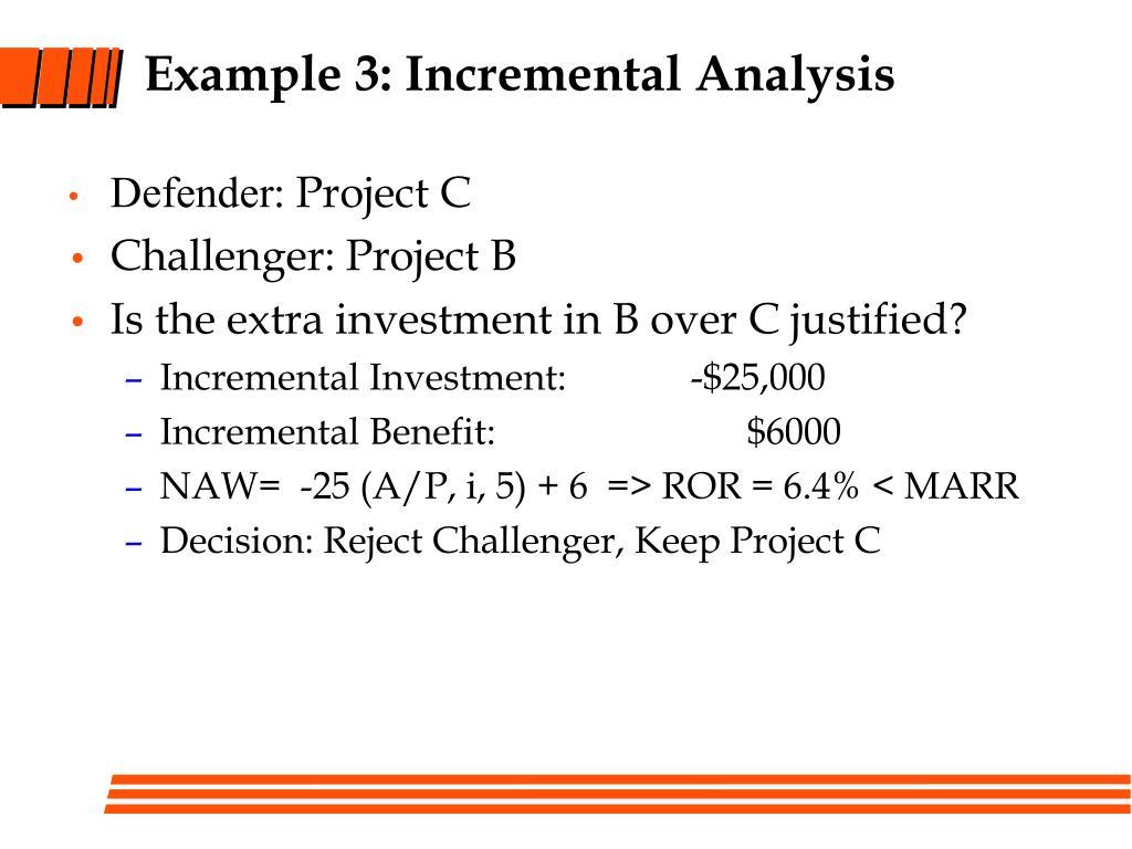 Example 3: Incremental Analysis