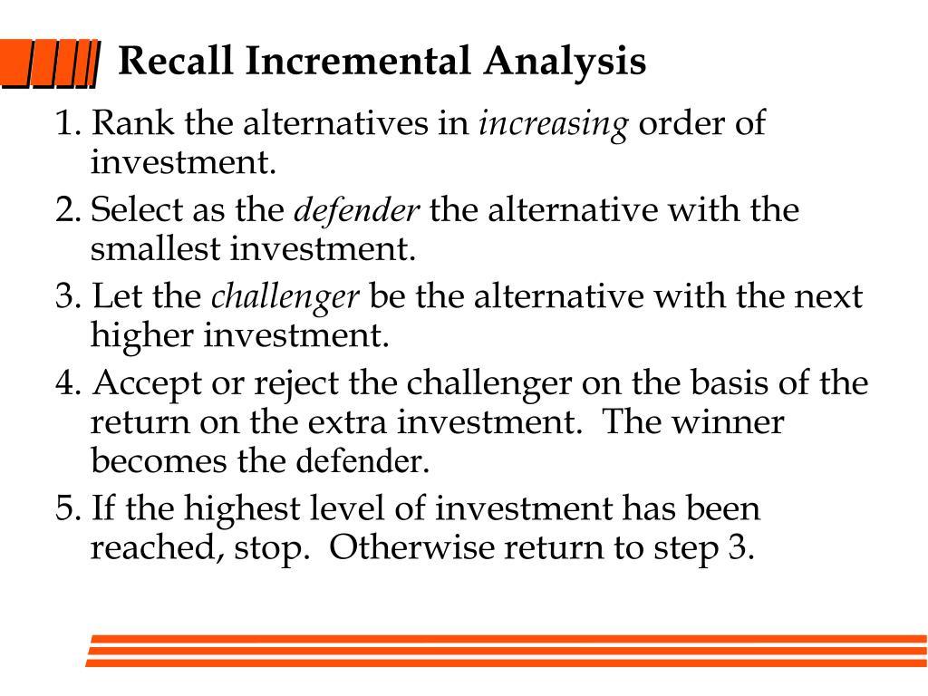 Recall Incremental Analysis